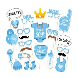 Photobooth party props set - Foto accessoires - Baby shower -