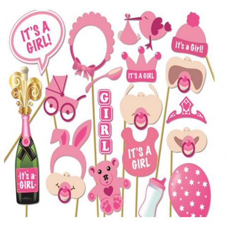 Photobooth Party Props Set Foto Accessoires Baby Shower 18