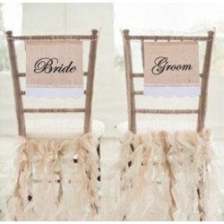 Bruiloft - Naambord - Banner - wedding - jutte - kant - Groom & Bride